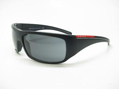 9800ff786764d New Authentic Prada Sport SPS 01L 1BO-1A1 Black Sand w Grey Polarized  Sunglasses