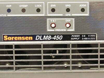 Sorensen Dlm8-450 8v 450a 4kw Dc Power Supply