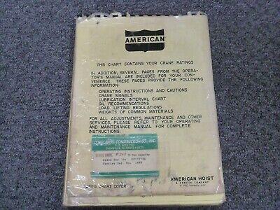 American 5530 Crane Load Rating Lift Capacity Charts Manual