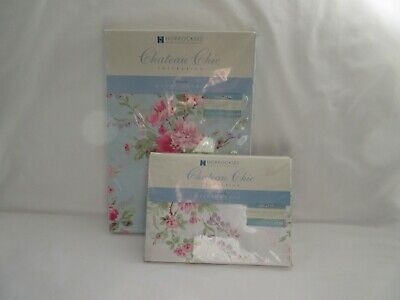 Horrockses Chateau Chic Amelie floral single quilt cover & pillowcase
