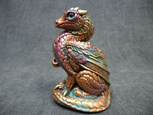 Windstone Editions NEW * Copper Patina Mini Keeper Dragon * Statue Figurine
