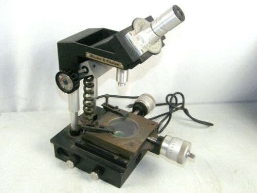 Brown & Sharpe Machinists Toolmakers Measuring Precision Microscope