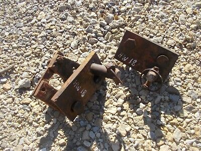 Massey Harris 81 Tractor Mh 3pt Hitch Sway Bar Brackets Bracket Mount Mounts