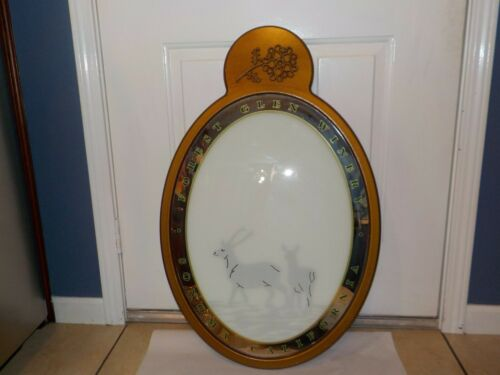 FOREST GLEN Winery Vintage Mirror/Sign DEER Framed Vineyards SONOMA CALIFORNIA