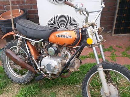 Honda xl 70 1974 on rego disc