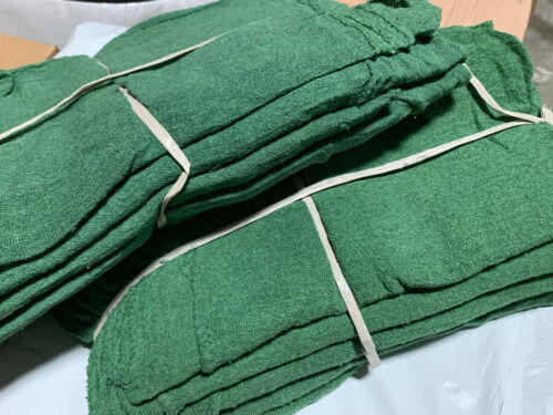 500 new great mechanics shop rags towels green heavy Duty