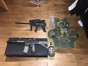 X7 phenom and TM 15 paintball markers