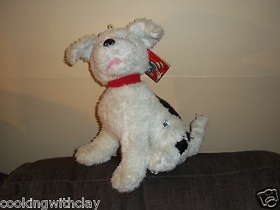 DR SEUSS THE CAT IN THE HAT PLUSH DOLL FIGURE NEVINS THE WHITE PLUSH PUPPY DOG