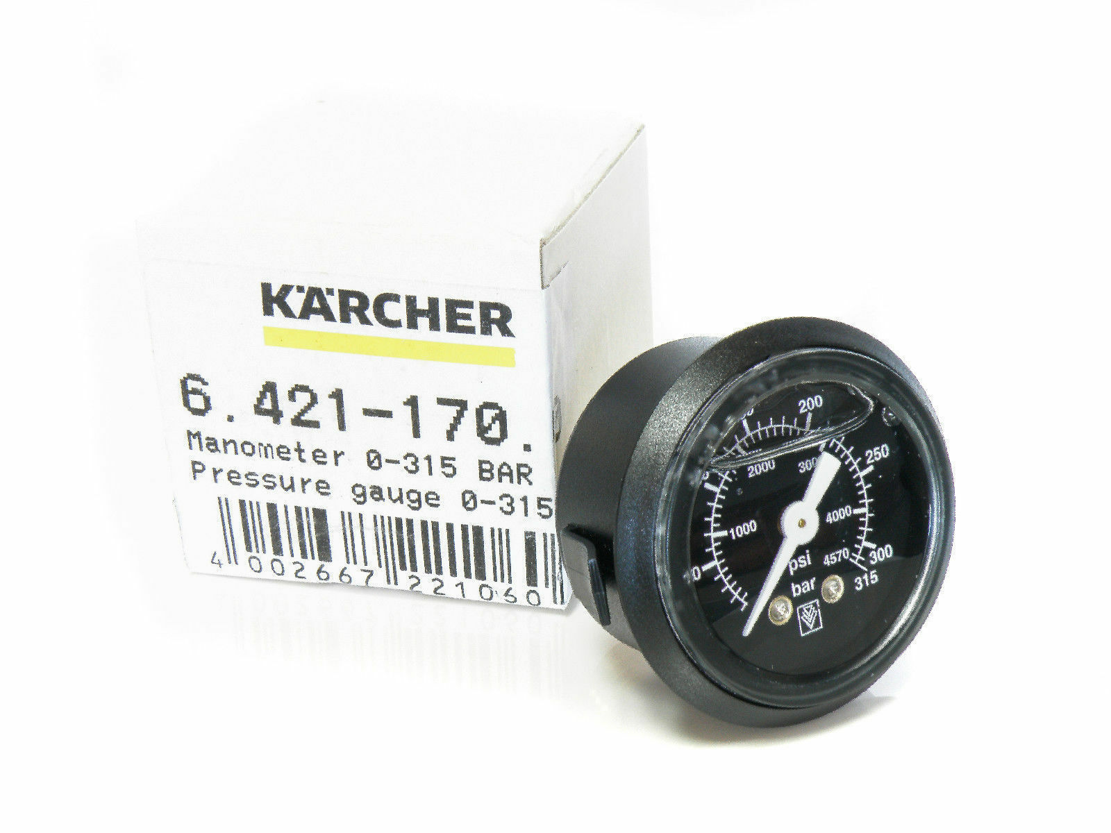 Original 6.421-170.0 Manometer 315bar Druckmesser für Kärcher HD HDS