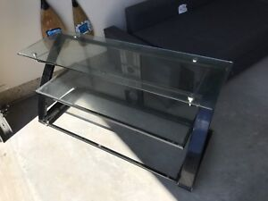 Like New Glass Shelf TV Stand