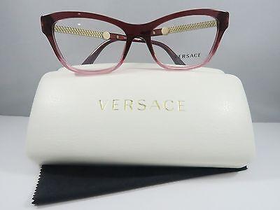 Versace MOD. 3214 5151 Gradient Pink/Gold New Authentic Eyeglasses 52mm w/Case