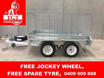 8X5 Tandem Hot Dip Galvanised Trailer, 5 Brand New Tyres & Rims