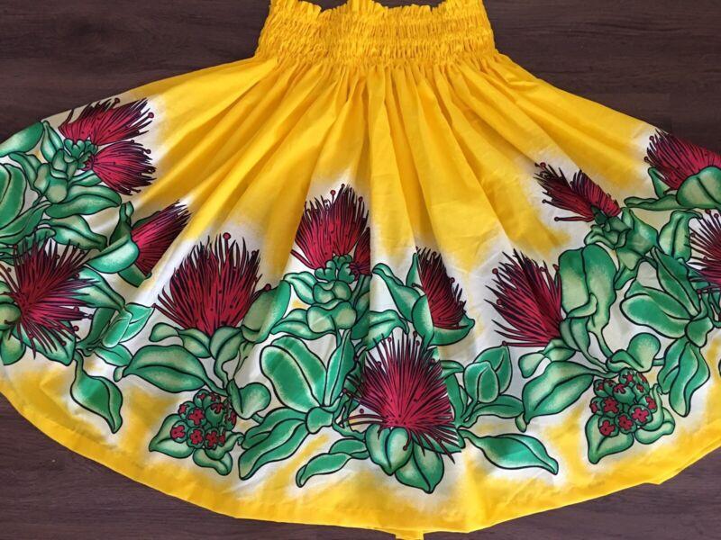 NEW YELLOW RED LEHUA HAWAIIAN PAU PA