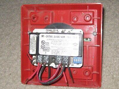 Wheelock Mt-2475w Fire Alarm Horn Strobe 75cd 75db 24v Audible Signal Appliance