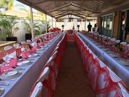 Plastic Pipee chair and trestle table hire- CAN DELIVER LOCALLY