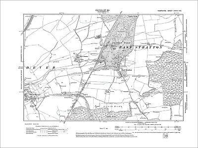 East Stratton, Micheldever, Old Map Hampshire 1911: 33NE
