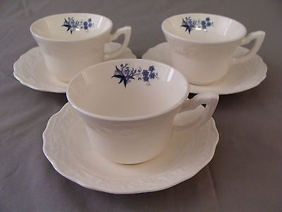 "3 Rare Vintage ""Blue Onion"" Design Coffee/Tea Cups & Saucers on Rummage"