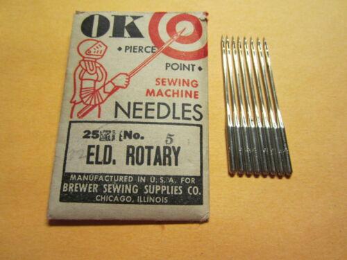 8 National, Eldredge 20x1 Rotary Sewing Machine Needles, Size 16, Damascus Grand