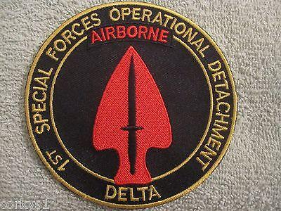 "1st Special Forces Operational Detachment ""Delta Force"" AIRBORNE DELTA Patch"