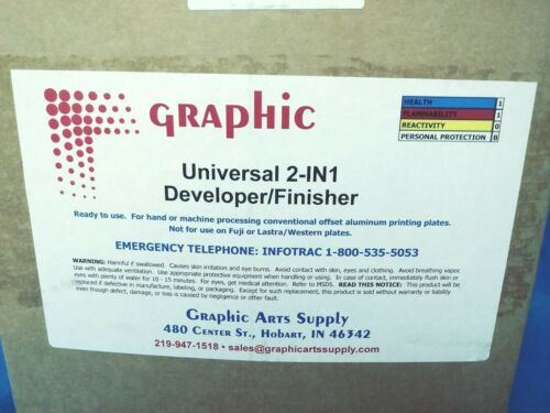 5 Gallon Graphic Universal 2-in 1 Developer / Finisher New Art Printing