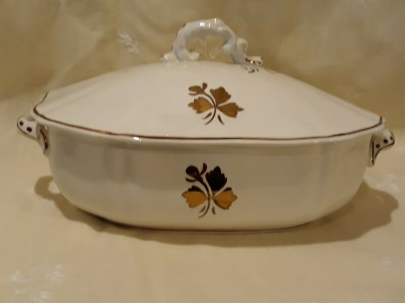 Antique Royal Ironstone China Alfred Meakin Ltd. England Luster Tea Leaf