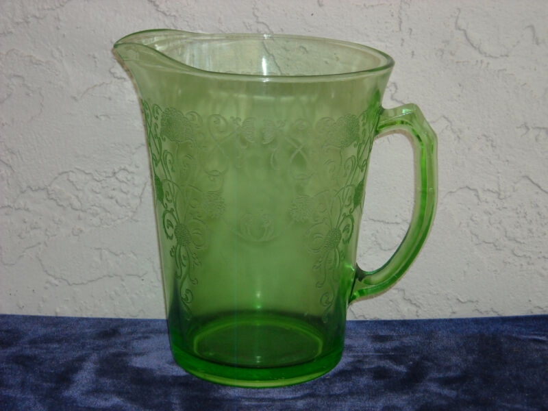 Florentine Poppy 2 Pitcher  Green