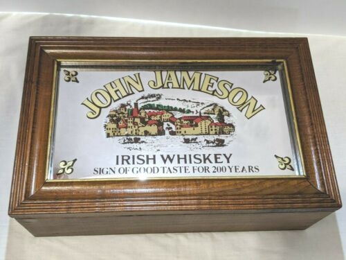 John Jameson Irish Whiskey Wooden Music Box Promotion Rare 200th anniversary