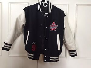 Vaughan Rangers leather sleeves Varsity Jacket, Size M, like new