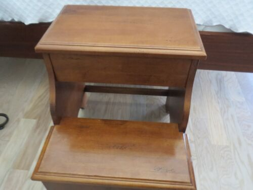 Very Well Constructed HOOKER Brand BEDSIDE STEPS with Hidden Storage Compartment