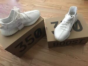 Yeezy 350 V2 cream/triple white  size 10.5 and 10