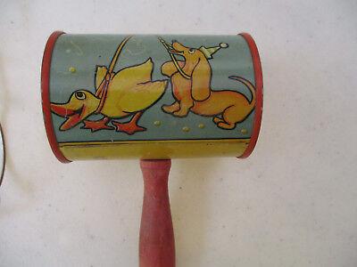 Noise Maker T Cohn antique Vintage Barrel Duck Dog Clown  - Duck Noise Maker