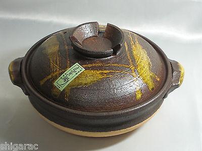 "Donabe for 2 or 3 Persons d26cm size ""tetuaka"" / Shigaraki Stoneware Japanese"
