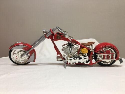 1/6 Scale Orange County Choppers NYFD 9/11 Tribute Fire Bike RARE Lights Sounds