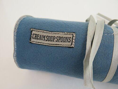 PREMIUM Anti Tarnish 12 Wide Slot CREAM SOUP SPOONS Roll Pouch Bag 7 x 27 3/8