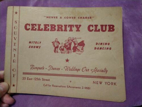 CELEBRITY CLUB NYC / Iconic African American Harlem Night Club! Photo! Scarce.02