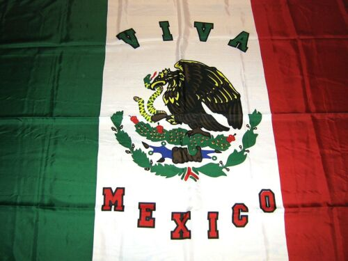 Large Mexican Flag 4ft X 6ft Clear Sharp Color smooth polyester GREAT QUALITY