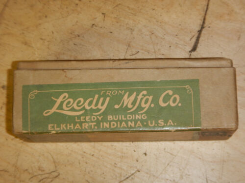 BEST OFFER VINTAGE LEEDY MFG. CO. DRUM CO. POSTAGE SHIPPING BOX PACKAGE EMPTY