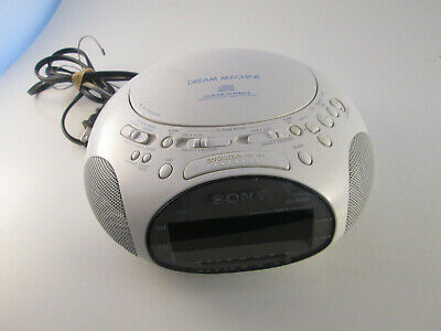 SONY Dream Machine Spaceship UFO ICF-CD831 CD Radio Alarm Clock Audio White