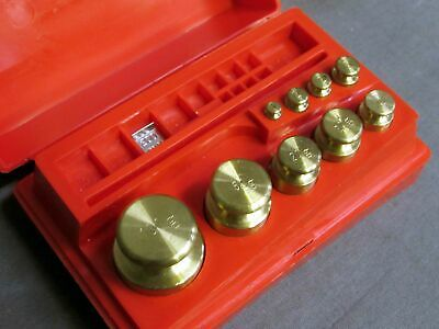 Troemner Balance Scale Brass Calibration Weights Set 1g Through 100g