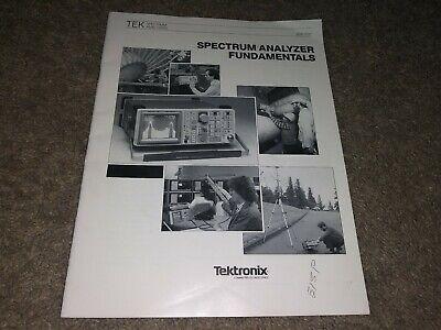 Tektronix Tek Spectrum Analyzer Fundamentals Vintage Instructional Manual Used