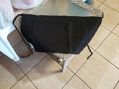 Half Size Bib Waist Apron Bistro Bar Caf Pub Waiter Waitress - Black Brand New