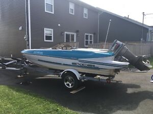 For Sale 16' Excel 16DX Speedboat with a 55 HP Yamaha Outboard