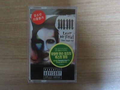 Marilyn Manson - Lest We Forget The Best Of  Korea Editio Sealed Cassette Tape