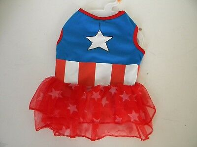 Pet Dog Marvel Captain America Halloween Costume Medium](Captain America Dog Costume)