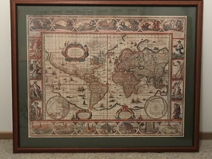 Ikea premiar canvas world map picture frames gumtree australia beautiful framed jigsaw of ancient world map gumiabroncs Gallery