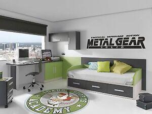 Vinilo decorativo metal gear solid pegatinas de pared for Decoracion gamer