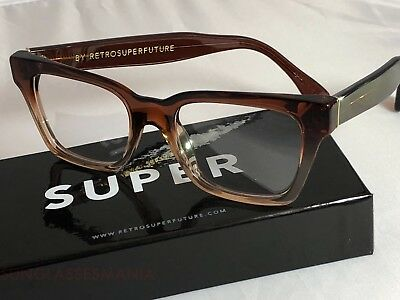 SALE Retrosuperfuture America Faded Bordeaux Clear Frame Glasses SUPER 819 NIB