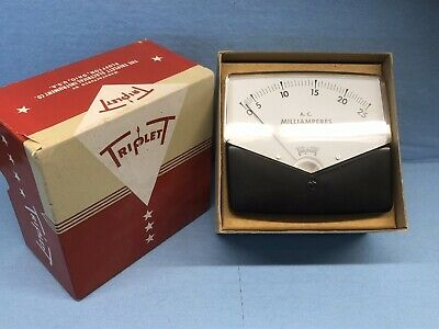 Vintage Triplett Model 430-m A.c. Volts Panel Meter - Nib