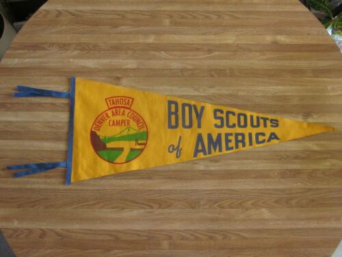 Boy Scouts of America BSA Tahosa Denver Area Council Camper Pennant 1950s-60s?