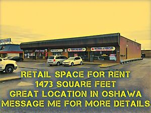 Clean Large Retail Space for Rent/Lease. 1473 sq ft. Oshawa